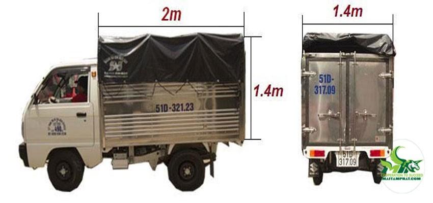 Kích thước xe tải chở hàng thông dụng hiện nay