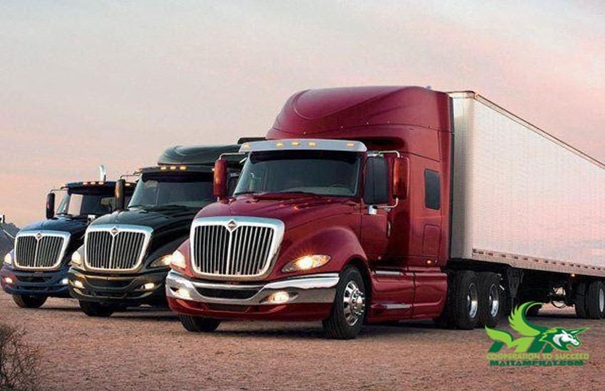 Xe container dùng vận chuyển lô hàng lớn