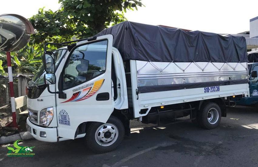 Kích thước xe tải 2 tấn chở hàng
