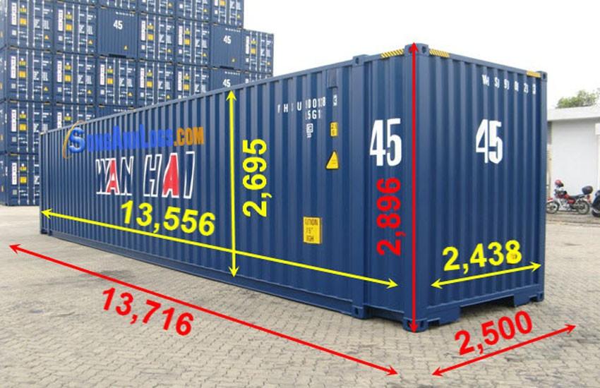 Kích thước container hiện nay