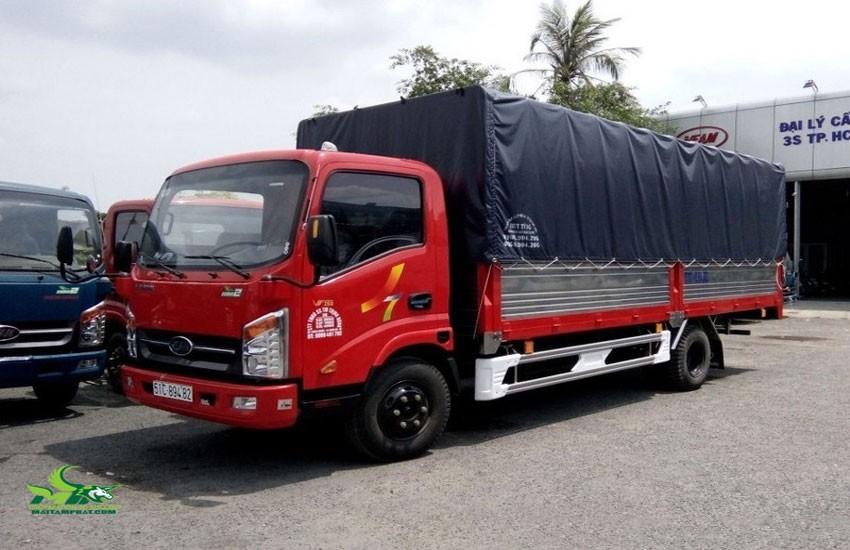 Xe tải thùng 2 tấn dài 6m vào phố được